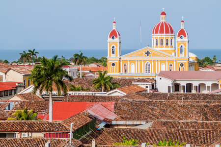 colonial church: Cathedral in Granada, Nicaragua