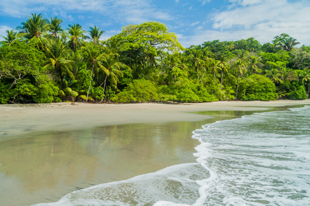 Strand in Nationaal Park Manuel Antonio, Costa Rica