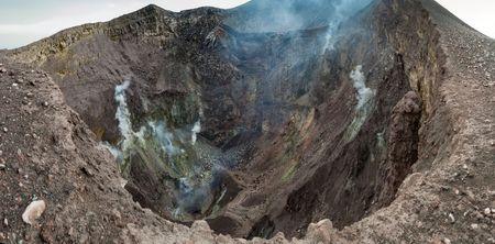 erupting: Crater of Telica volcano, Nicaragua Stock Photo