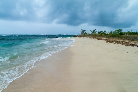 Beach at Isla Zapatilla island, part of Bocas del Toro archipelago, Panama