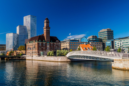 Urban landscape of Malmo, Sweden