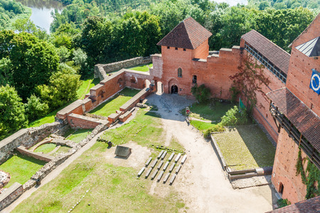 Aerial view of Turaida castle, Latvia Publikacyjne