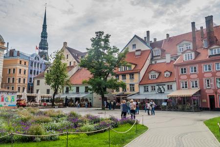 RIGA, LATVIA - AUGUST 19, 2016: View of Livu square in the center of Riga, Latvia Editorial