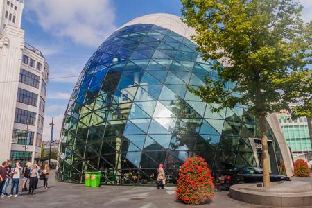 EINDHOVEN, NETHERLANDS - AUGUST 29, 2016: Modern architecture building in Eindhoven. Editorial