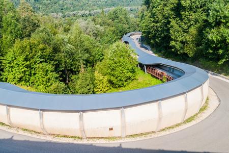 Bobsled track in Sigulda, Latvia