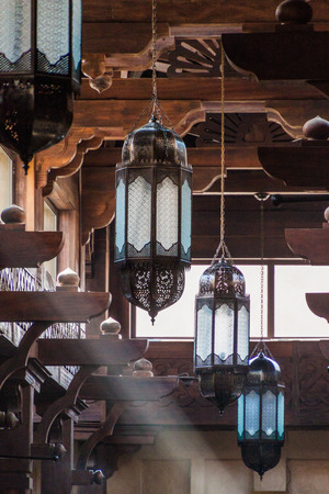 Detail of a ceiling of Madinat Jumeirah souq in Dubai, United Arab Emirates