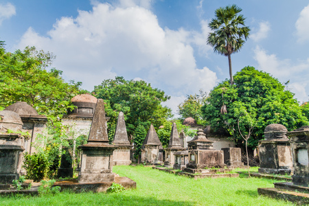 Tombs of South Park Street Cemetery in Kolkata, India