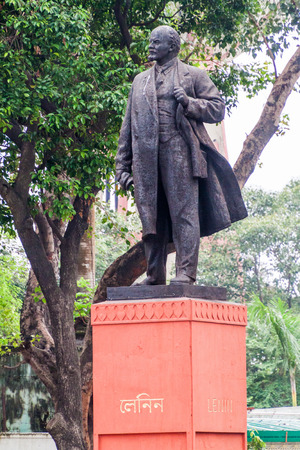 View of Lenin statue in Kolkata, India