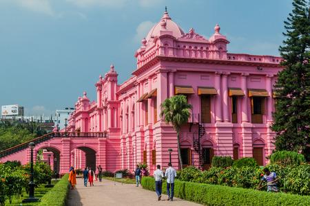 DHAKA, BANGLADESH - NOVEMBER 22, 2016: Ahsan Manzil, former residential palace of the Nawab of Dhaka, Bangladesh