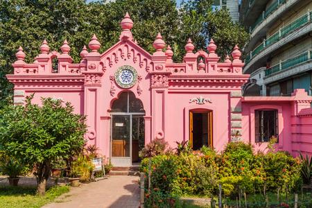 Luggage room (former gatehouse) of Ahsan Manzil, former residential palace of the Nawab of Dhaka, Bangladesh