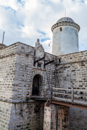 Drawbridge  at Castillo de Jagua castle, Cuba