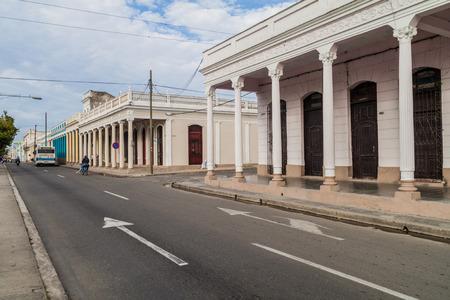 CIENFUEGOS, CUBA - FEBRUARY 10, 2016: Paseo del Prado street in Cienfuegos, Cuba. Stock Photo - 92585830