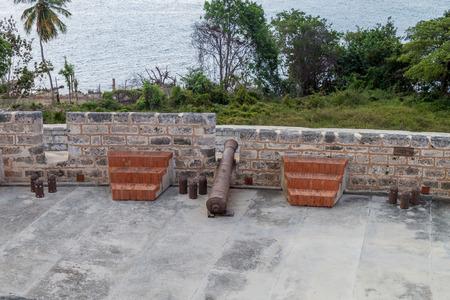 Fortification of Castillo de Jagua castle, Cuba Stock Photo - 92611436