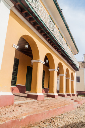 Building of Museo Romantico in the center of Trinidad, Cuba.