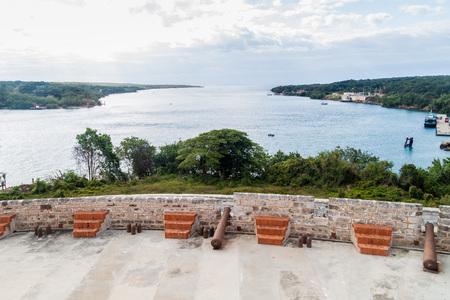 Fortification of Castillo de Jagua castle, Cuba Stock Photo - 92560693