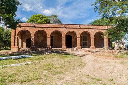 Main building of sugar mill San Isidro de los Destiladeros in Valle de los Ingenios valley near Trinidad, Cuba Editorial