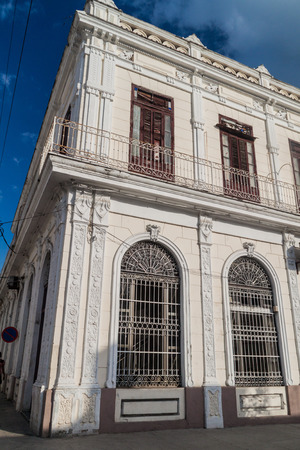 Old ornate house in Cienfuegos, Cuba. Stock Photo