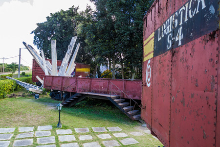SANTA CLARA, CUBA - FEB 13, 2016: Monument to the derailment of the armored train in Santa Clara, Cuba. Editorial