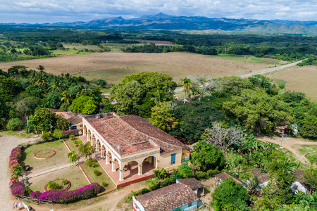 Former colonial mansion in Manaca Iznaga village near Trinidad, Cuba