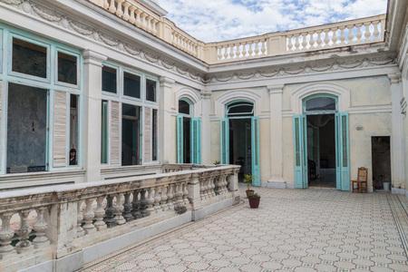 CIENFUEGOS, CUBA - FEBRUARY 11, 2016: Courtyard of Casa de la Cultura Benjamin Duarte in Cienfuegos, Cuba. Stock Photo - 92750347