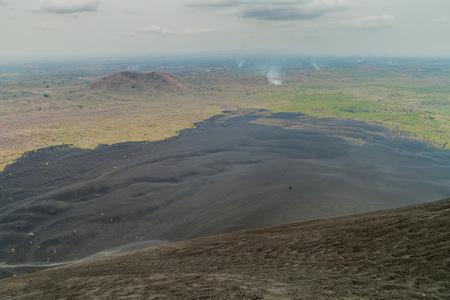 Lava flows of Cerro Negro volcano, Nicaragua