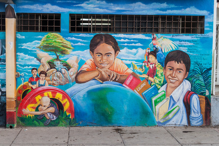 ESTELI, NICARAGUA - APRIL 21, 2016: Mural in the center of Esteli.