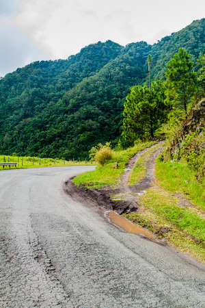 Road in mountains of Panama, in Reserva Forestal de Fortuna