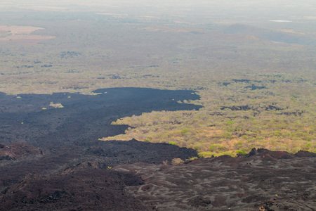 Lava flows from Cerro Negro volcano, Nicaragua