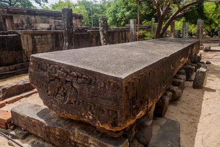 Gal Pota (Stone Book) at the ancient city Polonnaruwa, Sri Lanka Reklamní fotografie