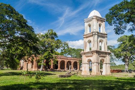 Observation tower and main building of sugar mill San Isidro de los Destiladeros in Valle de los Ingenios valley near Trinidad, Cuba