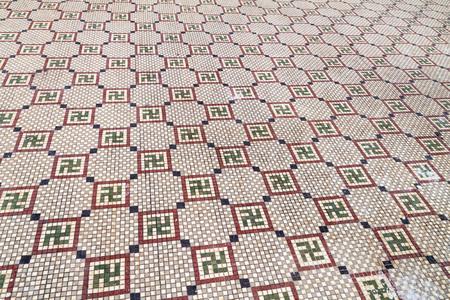 Floor mosaics in Casa de la Cultura Benjamin Duarte  in Cienfuegos, Cuba.