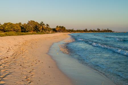 Beach in Playa Giron village, Cuba. Stock Photo