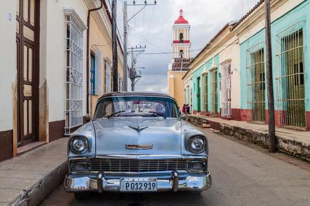 REMEDIOS, CUBA - FEB 12, 2016: Vintage Chevrolet car in Remedios town, Cuba Editorial