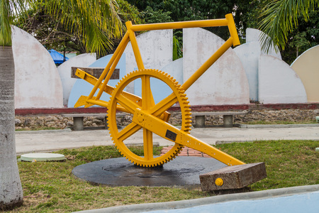 CIENFUEGOS, CUBA - FEBRUARY 11, 2016: One of sculptures in Parque de Esculturas park in Cienfuegos, Cuba.