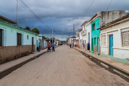 REMEDIOS, CUBA - FEB 12, 2016: View of a street in Remedios town, Cuba