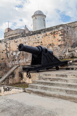 Cannon at Castillo de Jagua castle, Cuba Stock Photo