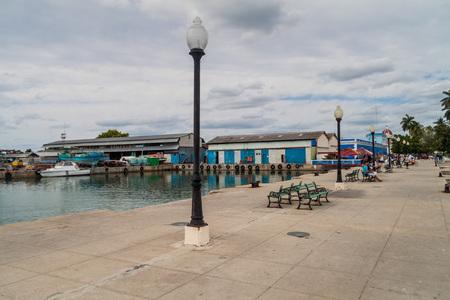 CIENFUEGOS, CUBA - FEBRUARY 11, 2016: Muelle Real pier in Cienfuegos, Cuba. Stock Photo - 93014954