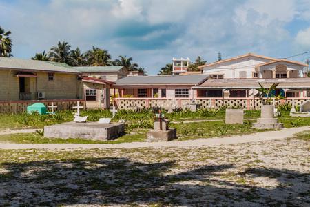 Small cemetery in Caye Caulker village, Belize