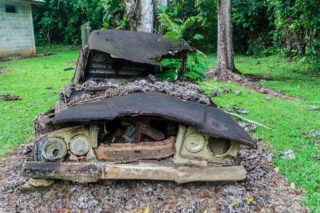 Wrecked truck Stock Photo
