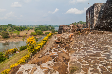 Fortress of the Immaculate Conception in the village Ell Castillo at San Juan river, Nicaragua