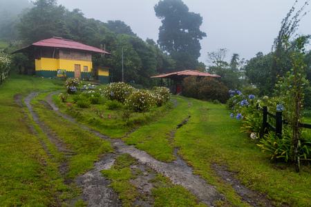 Ranger station of National Park Volcan Baru during rainy season, Panama. Stock Photo