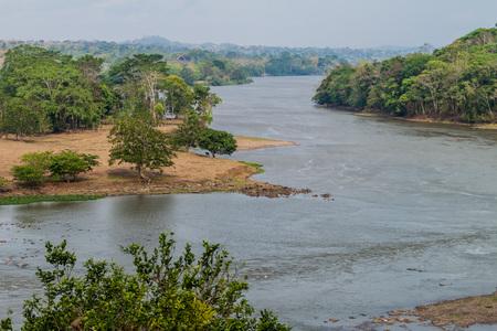 San Juan river near Ell Castillo village, Nicaragua Stock Photo