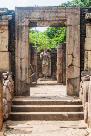 Hatadage, ancient relic shrine in the city Polonnaruwa, Sri Lanka