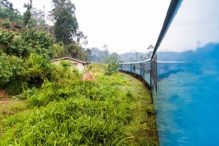 Train ride near Ella, Sri Lanka