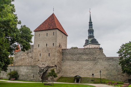 Tower and part of the ortification wall in Tallinn, Estonia