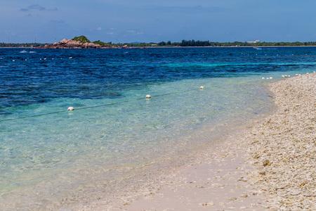 Beach on Pigeon Island near Nilaveli village in Sri Lanka.