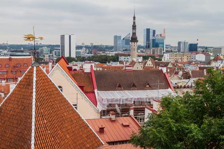 Roofs of Tallinn Old Town, Estonia