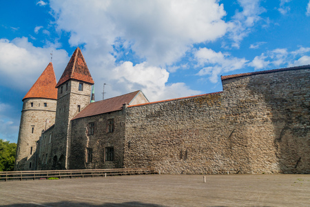 Fortification walls of the old town of Tallinn, Estonia