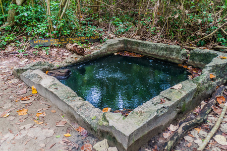 Old oil prospecting well in Cahuita National Park, Costa Rica