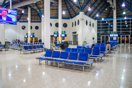 PUNTA CANA, DOMINICAN REPUBLIC - MAY 31, 2016: Interior of Punta Cana International Airport, Dominican Republic Editorial